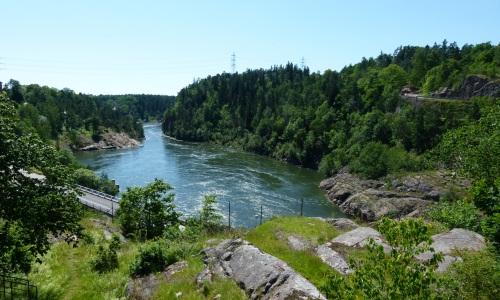 Trollhätan in Schweden Wasserfall @reiseidylle